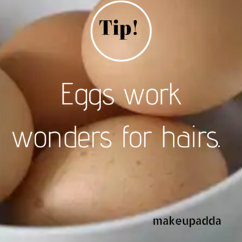 Tip of the Day . Eggs work wonders on your hair. The yolk is rich in fat and proteins which greatly acts in moisturizing while the white helps to remove unwanted oils. .  Use egg to condition normal hair, egg yolks for dry hair and whites for oily hair. . . Remember to rinse with lukewarm water only. . . . . . #eggs #eggmask #egghairmask #haircare #haircaretips #diyoftheday #diy #naturalhaircare #naturalingredients #tipsforhair #tipoftheday #tipsforhaircare #hairmask #mask  #contentcreator #contentwriter    #beautyblogger  #beautyinfluencers    #bangalorebeautyinfluencer #makeupadda #indianbeautyblog #indianbeautyblogger #bangalorebeautyblog #bangalorebeautyinfluencer