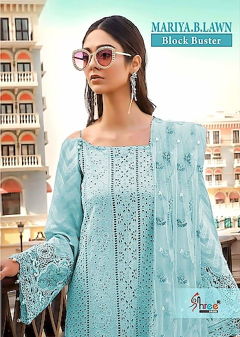 MAYSA COLLECTIONS: Super Hit Collection *#Mariya B* Block Buster  Top : Cotton #Shiffli Work Heavy #Embroidery And Print Bottom : Semi Lawn 2.75 Mtrs Dupatta : Net with Heavy #Embroidery N #Tussles  5 Pcs set  Set Rate : 999/- +Gst  Single Rate 1500/-  Dispatch: Ready 💯%  Confirm ur order Soon  Ltd Stock👍 Whatsapp on +918879845751. +919029093762  Whatsapp maysa collections directly from here.. https://api.whatsapp.com/send?phone=918879845751  Also Join our below networks free for getting latest updates.  Hello, thank you for your valuable message to MAYSA COLLECTIONS.  Will get back to you soon..   FACEBOOK  https://www.facebook.com/maysacollections  YOU TUBE  https://www.youtube.com/channel/UCWAOvQymcY3bTdp_0jFiuzA?sub_confirmation=1  TELEGRAM https://t.me/maysacollections  INSTAGRAM https://www.instagram.com/maysacollection6125  ROPOSO https://www.roposo.com/profile/maysacollection/18166642-9884-481a-ad55-8efb727cb4c