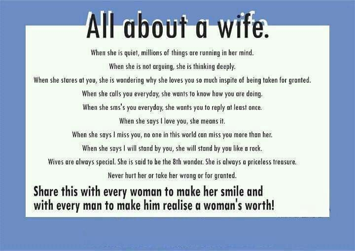 About wife's