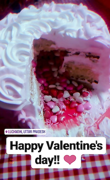 happy Valentine's day!!!  ❤️   #happyvalentinesday #2019 #valentinesdaycake #love #loveisintheair #iloveuuu #loveyou #loveyourself #roposo #roposoness #cake #cake-lover #cakedesigns #lucknow #lucknowblogger #lucknowyoutuber #lucknowbakers #lucknowgirl @roposocontests @roposotalks @roposobusiness @roposotutorial @roposodesignbox