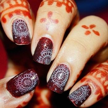Mandala nailart.   #nailpolish #nailpolishaddict #nailpolishlover #nailpolishlove #nailpaints #nailsoftheday #mattenails #nailart #nailartclub #nailartdesign #nailartwow #nailartaddict #nailartist #nailartdesign #lovefornailarts #instanailart #instanailstyle #instanails #nailartblogger #easynailart #nailartlove #nails #nailarts #nailpolish #nailartworld #glossynails #shinynails #roposotalenthunt #mandala #mandalanails
