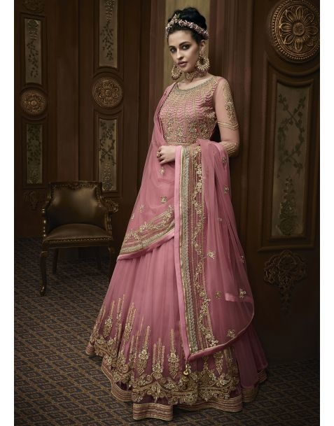 Make your bridal fairytale comes to reality in this statement with this charming #pink #partywear #anarkali style suit @www.manndola.com  Grab Up To 65% OFF. Get additional 10% OFF on all orders above $199 using code EXTRA10 & extra 15% OFF on all orders above $299 by using code EXTRA15 !!    Ace the traditional style this wedding season in this Charming Pink Partywear Anarkali Suit.A charming pink anarkali Suit Comes with embroidered net kameez with dyed santoon inner and bottom.The stunning apparal comes with embroidered & four sided bordered net dupatta.  #newarrivals  #newlaunch #partywear #anarkali #net #shoponlinenow #embroidery #eveningwear #reception #wedding #embroidery #style #photography #instamood #instaupload #fashion #indianfashion #ethnic #usa #india #canada #australia #dubai #uae #mauritius #london #uk #netherlands #paris #shoponlinestore