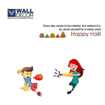 happy Holi  #holi #festival #Rang #Walldecor #Acpsheet #aluminiumcomposite
