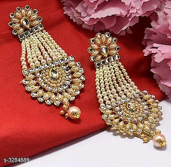 465 Only Gorgeous Brass & Copper Women's Earring Material: Brass & Copper  Size: Free Size Description: It Has 1 Pair Of Women's Earrings Work: Embellished