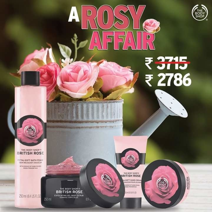 When the beautiful fragrance of our mesmerising roses are on sale, you don't think twice before grabbing the whole range. #TheBodyShopaholics   To shop online click: https://goo.gl/XSR8GS