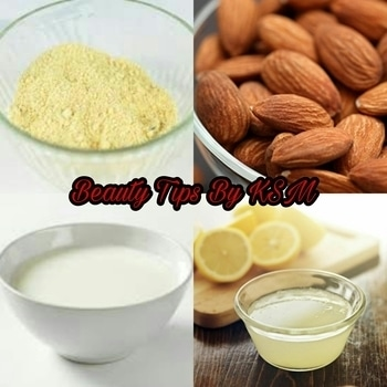 Skin Nourishing Besan Face Pack This pack packs in the goodness of milk and almonds along with besan and lemon juice. 1)Powder a few almonds, around five to six should be enough. 2)Add this to the besan, and pour in a little milk and some lemon juice to make a mixture that is not too watery or too thick. 3)Apply the paste and allow it to dry, and wash it off with cool water. This pack cleans, lightens and moisturizes your skin. #roposo #ropososkincare #beautytips #skincaretips #beauty #natural-remedies #KSM