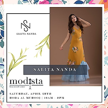 Don't we all want the Summer colors back! 🌻🔆 @salitananda's diverse collection illustrates experimentation and expression in the form of art. . Don't miss an opportunity to shop her collection at @modistadxb on 28th April at @rodaalmurooj . #Modistadxb #Modista #SpringTrends #springsummer #SS18 #LifeStyleExhibition #Lifestyle #Exhibition #ExhibitionInDubai #Designers #SalitaNanda #silhouette #SS18 #NewCollection  #Fusion #couture #April28th #Dubai #MyDubai #dubaifashion #trends