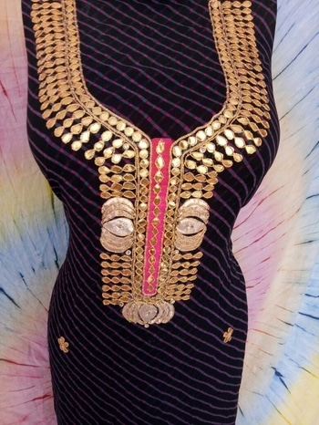 #aas-Price:: Rs.999/-with free shipping  *!! Gottapatti work Gorjet Kurti !!* Gorjet kurti dress material... Length 2.5mtr