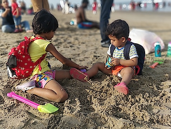 Children need the freedom and time to play. Play is not the luxury. Play is necessity. . . . . #kids #beach  #sand  #paradise #pondicherry #southindia #tamilactress #weekend #sea #bayofbengal #holiday #vacation #shotononeplus #oneplus5 #beachside #photography #wanderlust #travel-love  #clickphactory #clickphactorybyhitesh