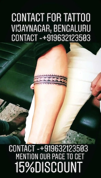 armband tattoo done at eclipse ink tattoo studio a few days back. vijayanagar, Bengaluru. For appointments of tattoo, 👂/ 👃 piercing or to avail free consultation contact 9632123503