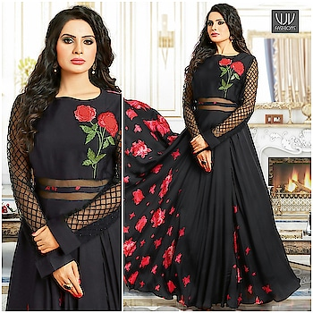 Buy Now @ https://goo.gl/HBS8jy  Stunning Black Embroidered Pure Satin Designer Gown  Fabric- Fancy Fabric  Product No 👉 VJV-ROYK32390  @ www.vjvfashions.com  #gown #gowns #indianwear #indianwedding #fashion #fashions #trends #cultures #india #instagood #weddingwear #designer #ethnics #clothes #glamorous #indian #beautifulgown #beautiful #gown #indiangown #vjvfashions #pretty #celebrity #bridal #sari #style #stylish #bollywood #vjvfashions