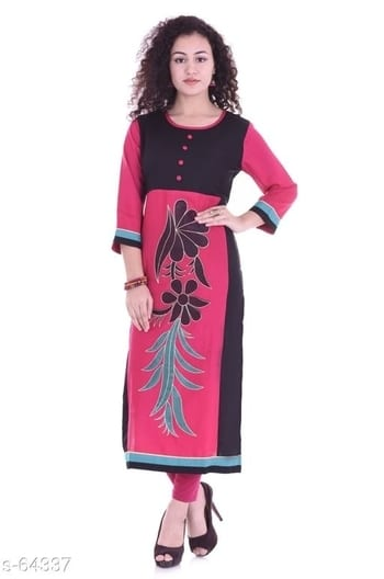 _Meticulously made of cotton material, this Kurtis can be worn all day long. Featuring pretty design, vivid color, and unique design, these Kurtis can be easily donned for a casual day-out, or for a formal day._  Catalog Name: *Alora Cotton Kurtis*  Fabric: Cotton  Size: M - 38in, L - 40in, XL - 42in, XXL - 44in  Length: 42in  Type: Stitched  Sleeves: Sleeves Are included  Work: Printed  Dispatch: 2 - 3 Days   Price:Variable $Free