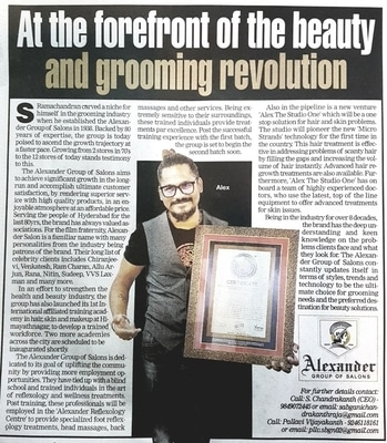 Today there is an article in# Times Of India#regarding# Our#Salon#in#Past # Present#Future Projects of our Brand ALEXANDER. #hairtrends #haircare #haircut #beatycare #haircaretips #oldestsaloninhyderabad #topsaloninhyderabad #makeover #makeuphacks #beauyblogger