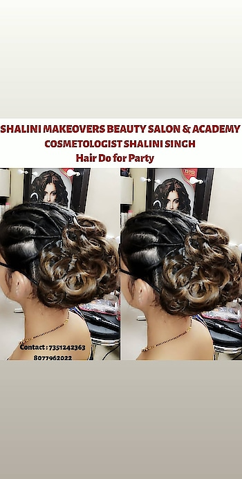 Hairdo for Party by Hairstylist Shalini Singh