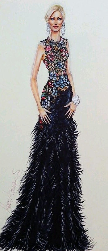 Gown #fashionblogger #fashiondesigner #evening-gown #illustration #ropo-good