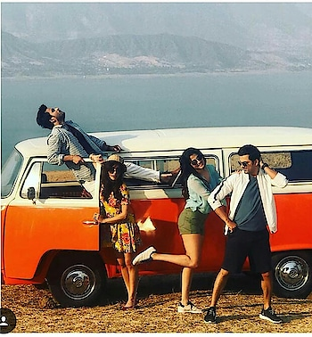 #bluetop #green #shortdress #sapnapabbi #posing #funny with #friends #fashionquotient