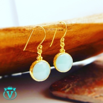 Designer Sterling Silver Earrings with Gold Plating   @Rs2224
