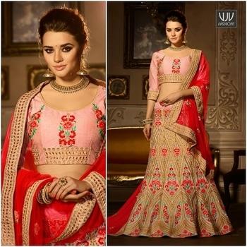 Buy Now @ https://goo.gl/fzkmkr  Resham Work Banglori Silk A Line Lehenga Choli  Fabric- Silk  Product No 👉 VJV-ZIKR5003  @ www.vjvfashions.com  #chaniyacholi #ghagracholi #indianwear #indianwedding #fashion #fashions #trends #cultures #india #womenwear #weddingwear #ethnics #clothes #clothing #indian #beautiful #lehengasaree #lehenga #indiansaree #vjvfashions #bridalwear #bridal #indiandesigner #style #stylish #bollywood #kollywood #celebrity #outfits #vjvfashions #lehengas
