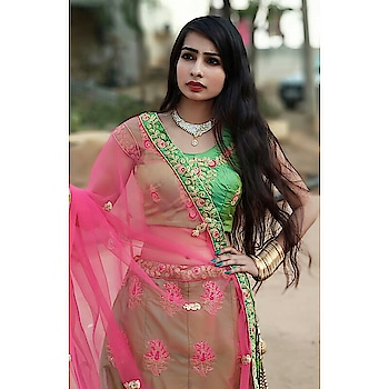 #longhair #bangleslove #eyemakeup #lipcolour #nailpaint #traditionalpic #necklace #