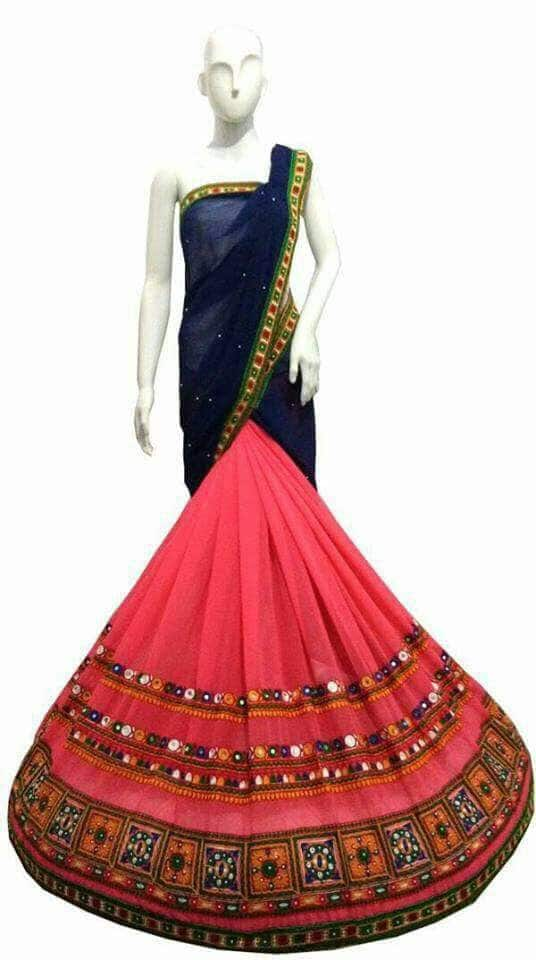 #saree  *Designer saree* Heavy kachi work Embrioedry work Fabric-georget *Price-1199₹* Book fas limted stock 👆