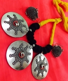 Beautiful German Silver Neckpieces and jhumka!   To know more or buy please leave a message in the comment box   #germansilver #jewellery #neckpieces #jhumka #necklace #ethnic #womenwear #trendy #traditional #goethnic #makeinindia #indianness