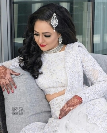 Prettiest angel of heaven!!! Makeup by: @madeinlondonstudio  Shop from Wedlista.com for your reception and look as quintessential as this bride.  #WedLista #FashionForWeddings