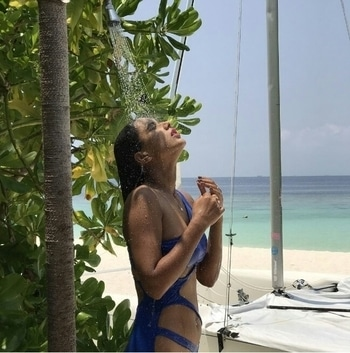 One of the sexiest TV actresses,Nia Sharmais holidaying in Maldives and her Instagram pictures are making everyone swoon. The gorgeous lass is having a gala time on the beaches and has been flaunting her bikini body with much swag. Check out some of her sizzling vacation photos.
