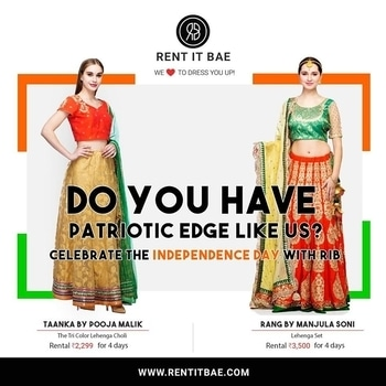 Celebrate the 71st #IndependenceDay of #India with Rent It BAE ! Add more meaning to this #Day rather than just another #National #Holiday! Empower India, #EmpowerWomen, #EmpowerEquality in a More #Stylish Way... Love yourself for others to Love you! Rent the most Beautiful Designs at https://goo.gl/ccfaCn and https://goo.gl/rELD6X  #fashion #delhifashion #nationalism #partiotism #style #rentfashion #rentitbae #womenclothing #comfortableclothing #rentdresses #designerwear #designerdresses #independenceday2017 #bringchange #revolutionizingindia #indians #traditionaldresses #ethnicwear #ethnicdesigns #latestfashion