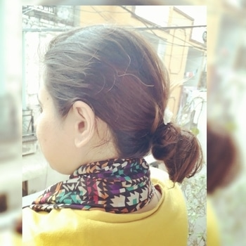 summer best hairstyle ..go cool with messy bun and mogra flower.