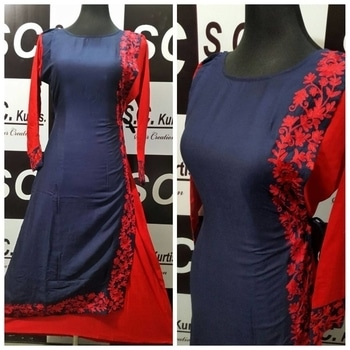 restocked on demand Sc rayon embroidery work size 42 + 2 Rs 1399+$ 4 colours Ua2