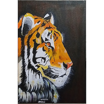 US $ 70  #art #artistsoninstagram #my-art #work #canvas #paintings #acrylicpaints #tigers
