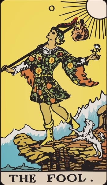 """Living the Tarot... Guidance for today, 6/20... The Fool!  """"I am leaving the safe heaven for this new path... I believe the universe is with me on this new journey... The hurdles are going to be there but I can deal with whatsoever it may be... I listen to my heart!""""  Trust your instincts if you have a doubtful situation...  Faith and self-trust are your keys if you are about to begin something new... A new relationship may look foolish to others but you should go by your emotions... If you are doing something out of the box, it's time...  """"I am the only Hope!""""  Stay fit n healthy! Namaste! """"New Life With Tarot"""""""