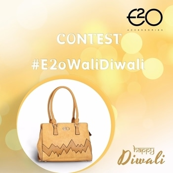 #ContestAlert Here's a chance to win an elegant E2o clutch to accessories your traditional wear this Diwali. All you have to do is tell us what you love the most about this festival & Tag you friends to celebrate with us! # E2oWaliDiwali    Rules & Regulations –    1.) Tell us what you love the most about Diwali    2.) Follow @E2oFashion on Instagram, Facebook & Twitter    3.) Share the post on your social media    4.) Tag minimum 5 friends in comments section below with  #E2oWaliDiwali #Contest