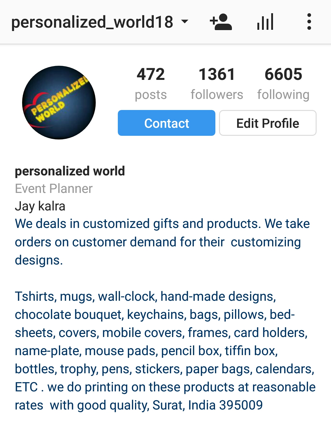 FOLLOW US AT INSTAGRAM . FOR BEAUTIFUL AND UNIQUE PRODUCTS FOR GIFTING TO YOUR LOVED ONES .   https://www.instagram.com/personalized_world18  for queries call us at 7490084454