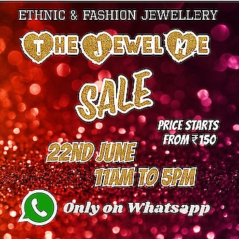_*The Jewel Me💫💎 Sale*_  Join the group now to get the updates first!!  https://chat.whatsapp.com/5MYddpbP23aJHBLklREKJ0  Only Bank Transfer or Paytm Accepted. No Cod   Whatsapp on 9867764381  FB/insta @stylistafashionss  Follow us on:  /https://www.facebook.com/stylistafashionss  #stylistafashionss #style #fashion #trend #readysuit #dressmaterial #ethnic #western #fashionjewellery  #handbags #kurti #botttomwear #onestop #shopping #saree #readymadeblouse #lookstylish #bethefashion #shopstylistafashionss #onlineshopping #bestquality #bestprice #bestbuy #swag