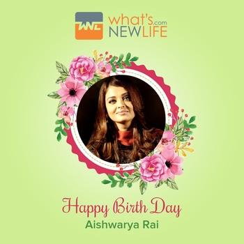 What's New Life wishes the Indian actress Aishwarya Rai on her 44th birthday anniversary.  #IndianActress #BollywoodCelebrity #aishwaryaraibachchan  #Birthday #Celebration #Wishes #WNL