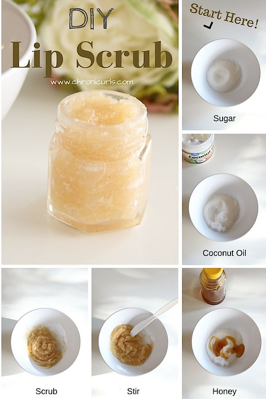 DIY LIP SCRUB  1/2 tsp Honey 1/2 tsp Coconut Oil 1 tsp Sugar 1 drop Peppermint oil (optional)  Mix together, Rub on lips in circular motion gently for 2 minutes. Rinse with warm water. Apply lip balm for extra nourishment and enjoy smooth lips.  Coconut Oil is filled with antioxidants and fatty acids that nourish the skin, while brown sugar acts as a natural exfoliator that helps remove dead, dry skin. Honey is rich in natural healing properties.  #beautytips  #diy  #lipscrub #doityourself  #softlips  #tipoftheday  #beyoutiful  #beyourself  #loveyourself