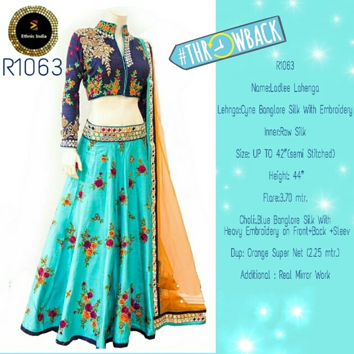to buy chat or whatsapp +91991386591  #cyan #blue #orangelove #lehengalove  #ethnicwear