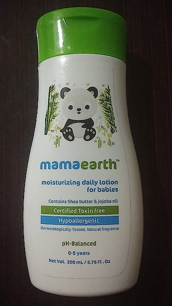 MamaEarth is one of the trusted brand in baby care range. This baby daily lotion keeps the skin moisturized and soft. Features #sheabutter #Hypoallergic #ph-balanced #dermatologist #tested #toxinfree   It's a kind of must product for babies.  #mamaearth #dailylotion #babies #lotion #madesafe #bazaar #roposo #vitamine