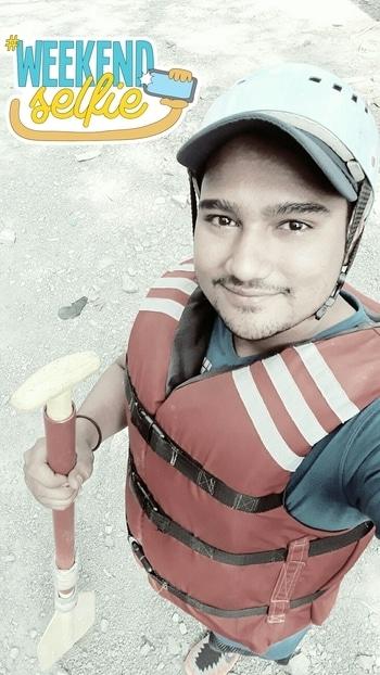 Rafting 😅😅 #weekendselfie