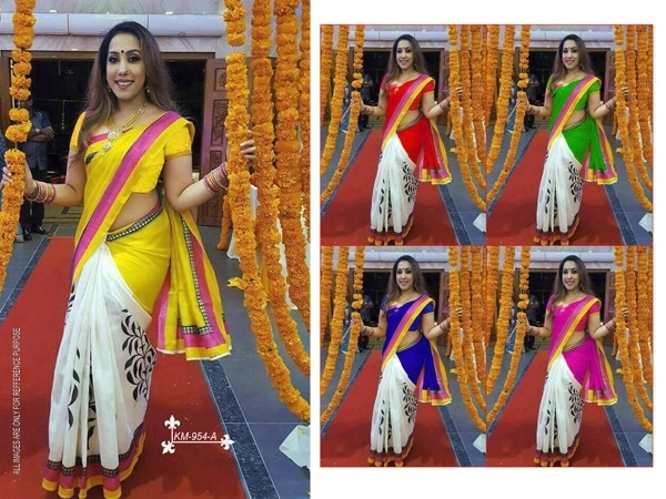 *Original Bhagalpuri Saree*   *With Same In Seen Photo Cut 6.30*  *Rate 550+$/-*  *No less*  *Ready to ship* Jay