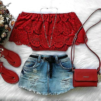 #ootd #fashion #summer-fashion #off-shoulder #croptop #denimshorts  #fashionstyle