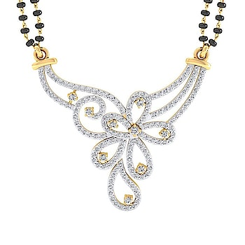 Diamond Mangalsutra in 18K Yellow Gold with 156 pcs, 2.30 cts diamonds, certified by IGI - International Gemological Institute. Please contact our jewellery consultants to customize this product. Chain is not included.http://www.sarvadajewels.com/the-meera-mangalsutra.html #sarvadajewels #ladiesdiamondmangalsutra #diamondmmangalsutrayellowgold #realdiamondmangalsutra #diamondmangalsutras #designerjewellery #diamonds #mangalsutras #diamondjewellery  #naturaldiamondsmangalsutras  #jewellery #natural #tanmaniya