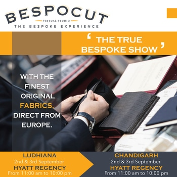 We bring to you the Bespoke Experience for the first time in Jalandhar.  Be a part of this hands on experience!  For registration click on the link below:  https://www.bespocut.com/promotions/punjab-compaign-sn.html  #TheBespokeRevolution #BespocutExperience   #Punjab #ludhiana  #chandigarh  #bespocut  #bespoke  #besopkeexperience #virtualstudios #internationalmills #internationalfabric #internationalbrands  #fabric  #accessories #buttons