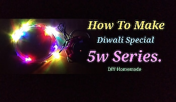"""📽 Coming Soon My New Project On My YouTube Channel. Today I Will Upload A New Video. """"Diwali Special 5w Series."""" #diy #diwali #series #creativespace"""