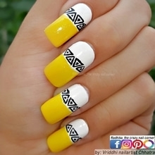 Bright Yellow Aztec Mani. 💅 In love with this pretty combo ✌. ⚪💛🛆 ⚪💛🛆 ⚪💛🛆 ⚪💛🛆 ⤵ Inspired  by @marinelp91. Her tribal water decal (21576) Mani from www.bornprettystore.com  My Free Hand Tribal Art. 👐  Base is @lakmeindia #nails2inspire #nailartoohlala #nailartfeature #freehand #nailsartcentral #featurednailart  #justgoshoot #simplynotlogical #visualsoflife #exploretocreate #love #igers #artistuniversity #instagoodmyphoto #HairandFashionAddict #notd #nailsofinstagram #artisticdreamerss #arts_help #artworks_feature #weloveyournailart #justartshelp #inkfeature #mynailsnaps #help___artist #lakmeindia #lakmefashionweek #nails #fun #creative #roposofashion #roposodaily #roposostyle #roposobeauty #nailart #nailfashion #naillover #nailsoftheday #nailartdesigns #nailartwow #nails2inspire #nailaddict #nailartpromote #nailartaddicts #nailoholic #floral #beautyaddict #nature #fun #colors #fashion Enjoy. 😊