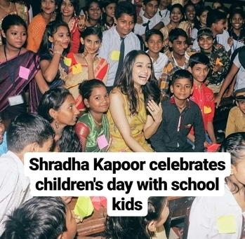 #children's day #celebration #sharddha kapoor #celebrationtimes #bollywoodstars #celebritylife