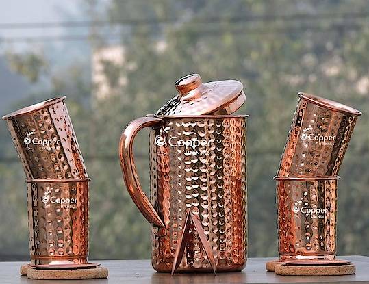 Copper Water Jug with Tumbler for Get Amazing health Benefits