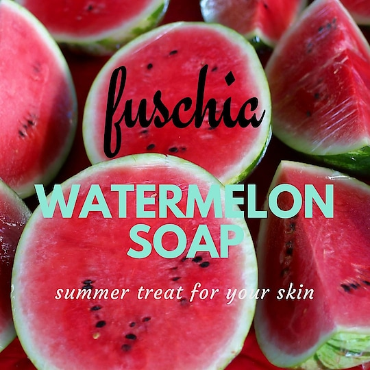 The #summers are here.  Get refreshed with #watermelon #fuschia #soap.
