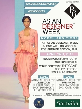 Asian designer week™ model auditions in Chandigarh on 2 April 2017 @ The Cove with #BB models and #Sattvikafashions by Nidhi Gupta  #ADWSR17 #Models #AUDITIONS #CASTING #FASHION #lifestyle #exhibition #shopping  #fashionDesigners #ADW #fashioncrossesborders #fashionisOne #NewGenDesigners #Designers #FashionColleges #fashionbloggers #Design #trend #runway #fashionweek #modelauditions #ramp #instagram